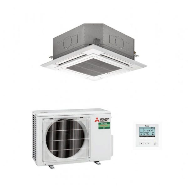Mitsubishi Electric PLA-M35EA 4-Way Blow Ceiling Cassette Air Conditioning System