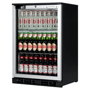 Tefcold BA10HAL Back Bar Silver Hinged Door Bottle Cooler