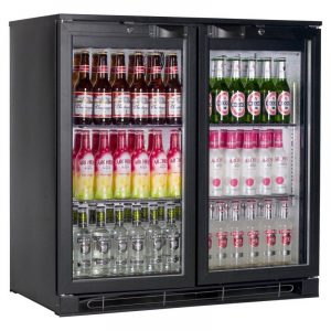 Tefcold BA20H Back Bar Black Hinged Door Bottle Cooler