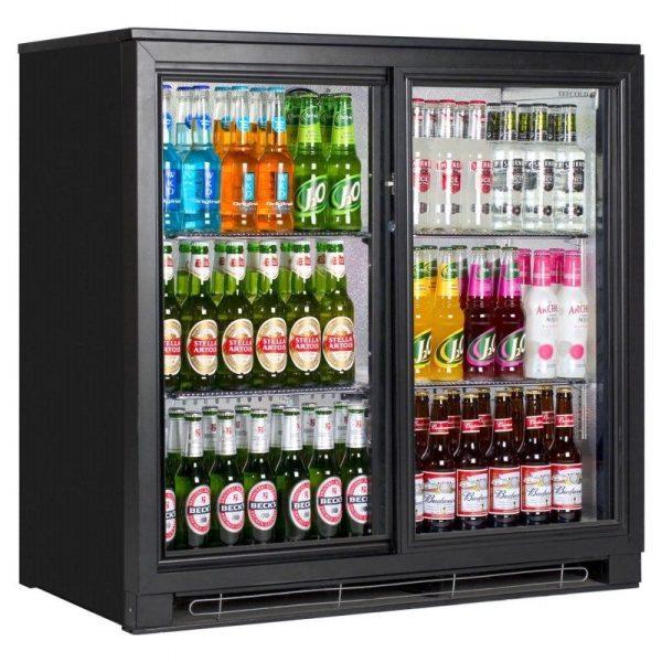 Tefcold BA20S Back Bar Black Sliding Door Bottle Cooler