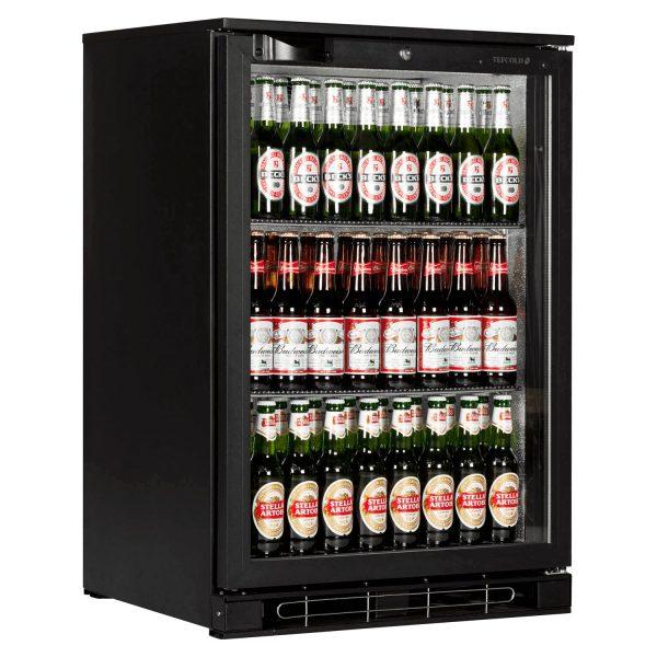 Tefcold BA10H Back Bar Black Hinged Door Bottle Cooler