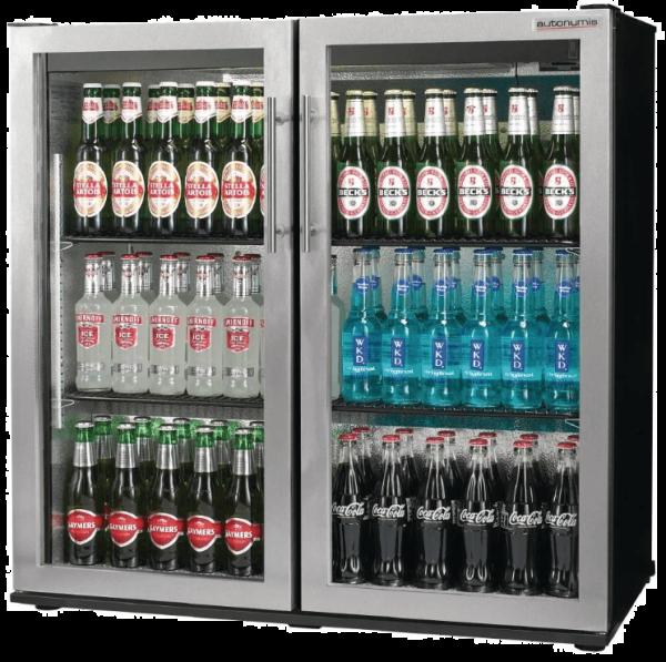 Autonumis Popular Double Door Bottle Cooler Stainless Steel Door Frame | Carlton Services